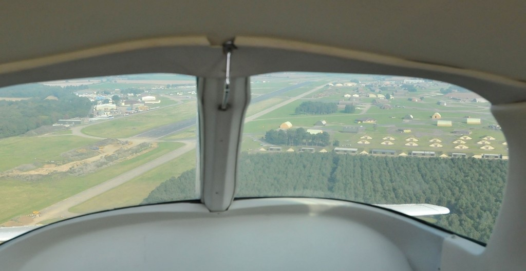 Flying over aircraft shelters