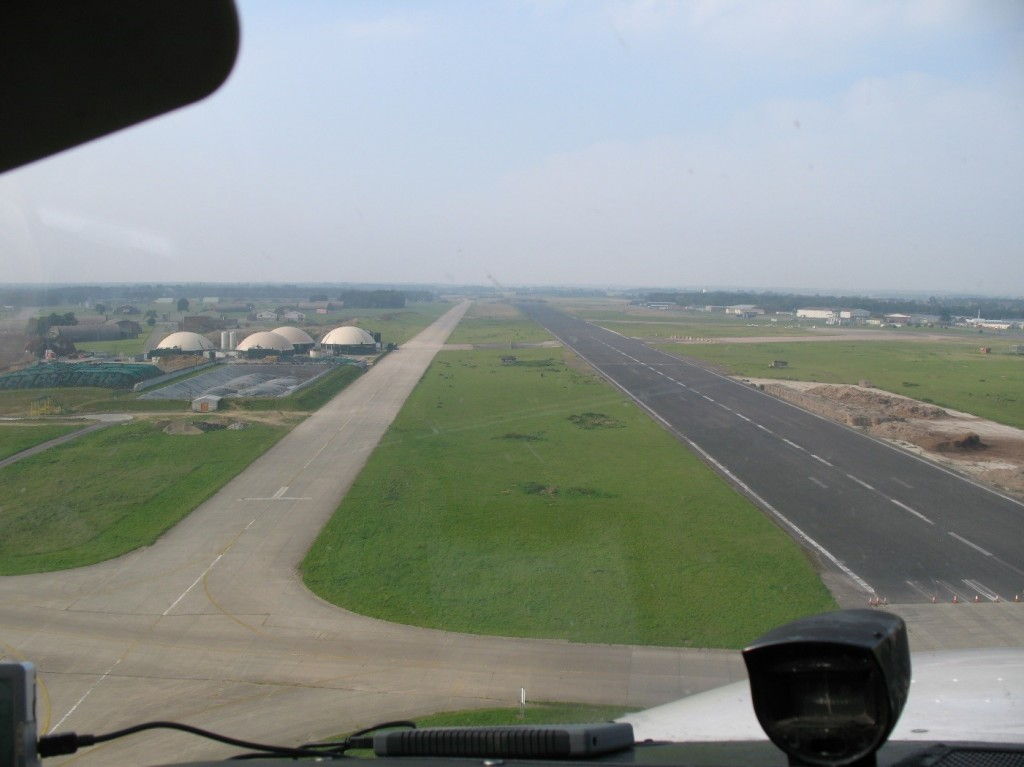 Landing with a displaced threshold