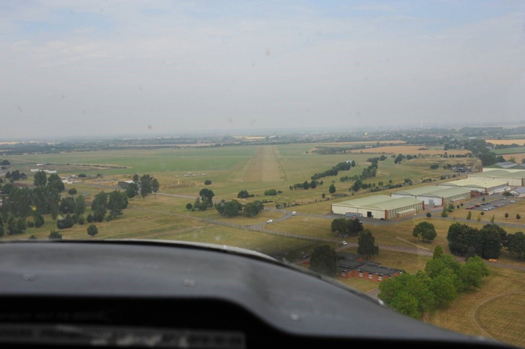 On short finals at RAF Henlow