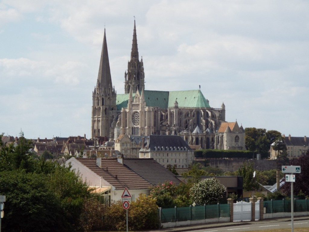 Chartres Cathedral dominating the skyline