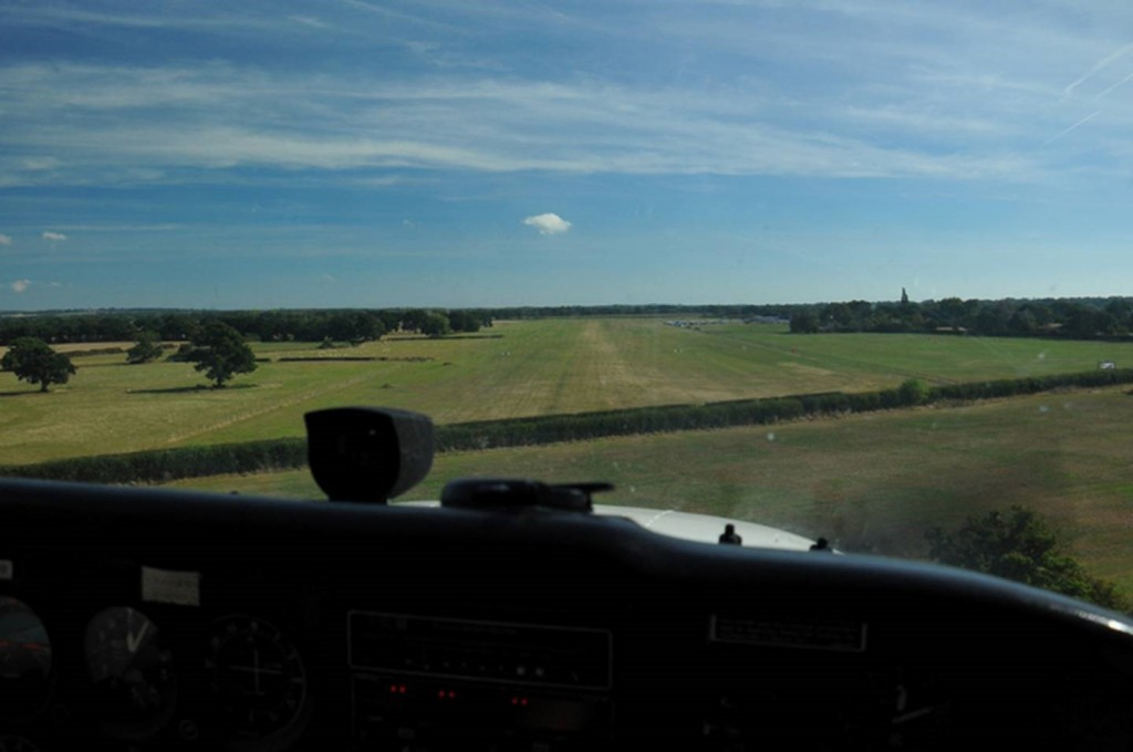 Farm Strips Fly Out Event - On short finals into Headcorn in beautiful conditions (if you ignore the wind!)