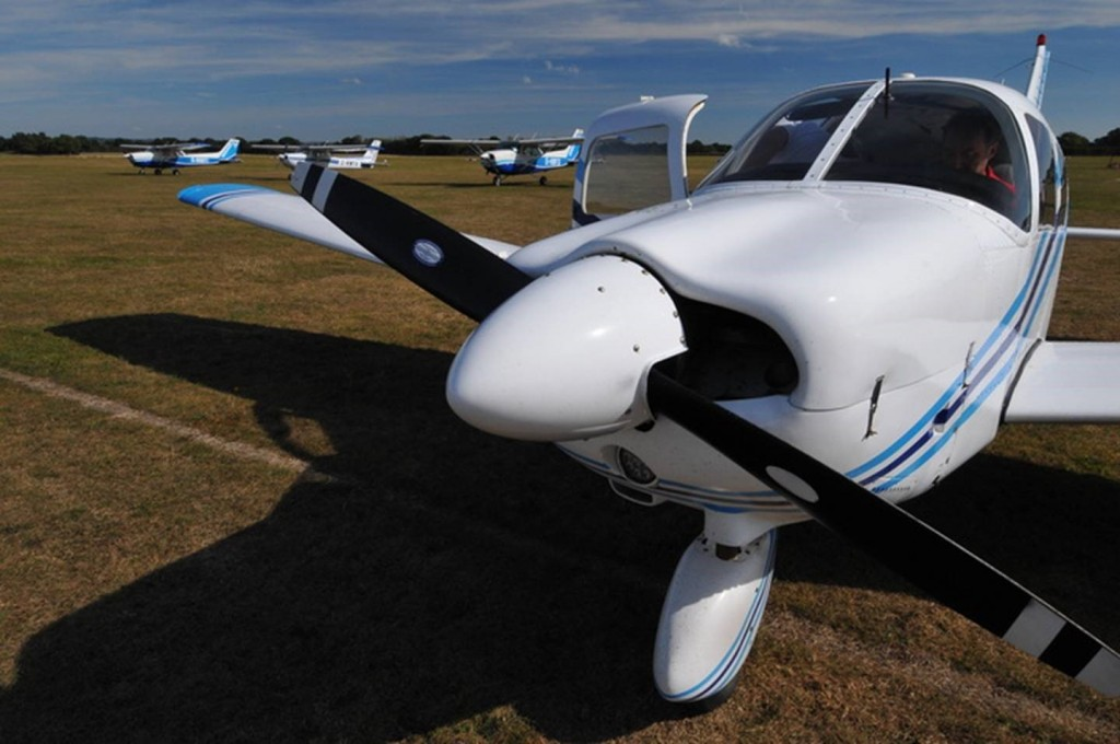 Farm Strips Fly Out Event - Parking up and shutting down at Headcorn